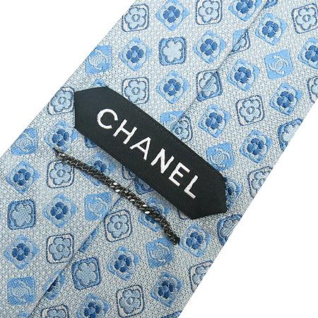 Chanel(샤넬) 100% 실크 플라워 도트패턴 넥타이