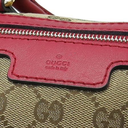 Gucci(구찌) 247205 GG로고 자가드 레드 레더 트리핑 토트백 + 숄더 스트랩 [부천현대점]