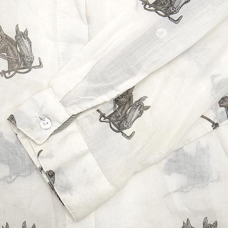 ZARA(자라) 아이보리 컬러 말 패턴 남방