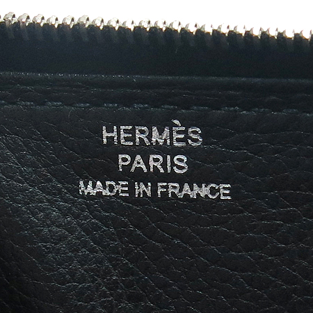 Hermes(에르메스) 블랙 레더 아잡 짚업 장지갑