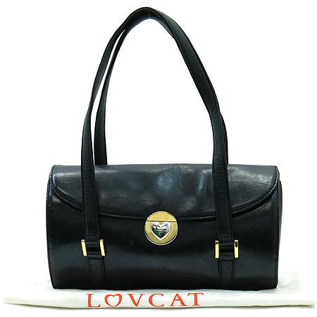 LOVCAT(러브캣) 금장 버클 블랙 래더 숄더백 이미지2 - 고이비토 중고명품