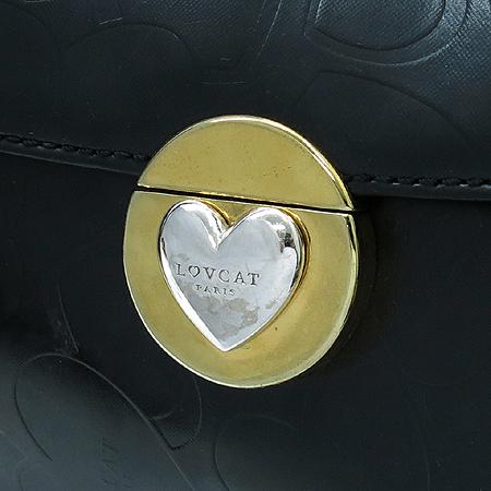 LOVCAT(러브캣) 금장 버클 블랙 래더 숄더백