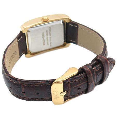 DAKS(닥스) GDF7006 금장 사각 플래임 가죽 밴드 여성 시계