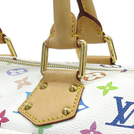 Louis Vuitton(루이비통) M92643 모노그램 멀티컬러 화이트 멀티스피디 30 토트백 이미지3 - 고이비토 중고명품