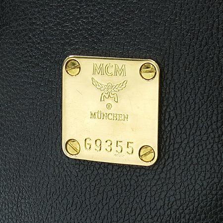 MCM(엠씨엠) 1011054080301 블랙 래더 금장 플레이트 토트백