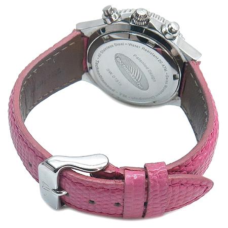 TechnoMarine(테크노마린) 베젤 다이아 핑크 자개 다이얼 크로노그래프 여성용 시계 [부산센텀본점] 이미지3 - 고이비토 중고명품