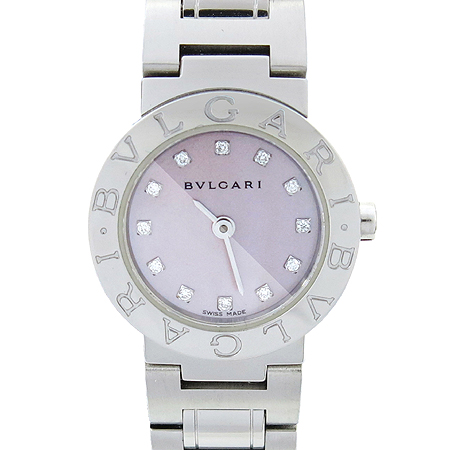 Bvlgari(불가리) BB23SS 12포인트 다이아 자개판 신형 스틸 여성용 시계