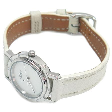 Hermes(에르메스) CL4. 230 클리퍼스 자개판 12포인트 다이아 여성용 가죽 밴드 시계 이미지2 - 고이비토 중고명품