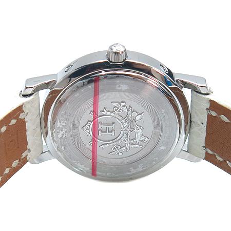 Hermes(에르메스) CL4. 230 클리퍼스 자개판 12포인트 다이아 여성용 가죽 밴드 시계 이미지4 - 고이비토 중고명품