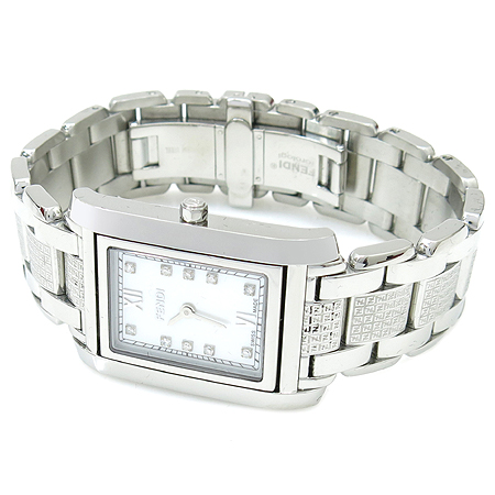Fendi(펜디) 7600M 10포인트 다이아 자개판 남성 쿼츠 스틸 시계