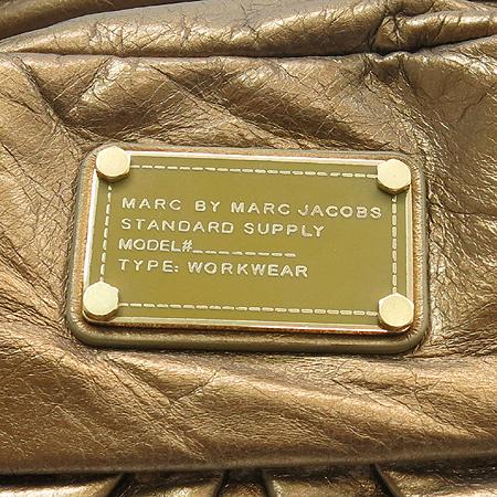 Marc_Jacobs (마크바이마크제이콥스) 골드 브론즈 레더 금장 로고 2WAY