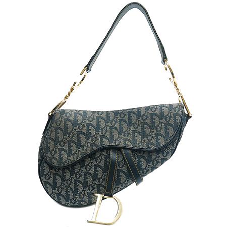 Dior(크리스챤디올) SL044001 로고 패브릭 금장로고 새들 숄더백