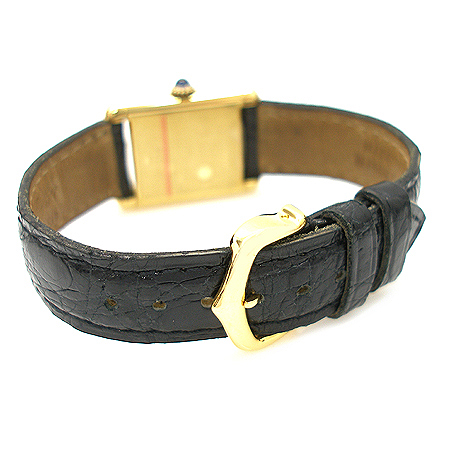 Cartier(까르띠에) 925(실버) Must de Cartier(머스트 드 까르띠에) 가죽 밴드 여성용 시계 [분당매장]