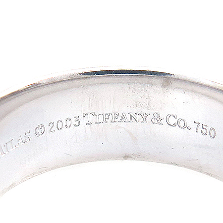 Tiffany(티파니) 18K 화이트 골드 아틀라스 6MM 반지-20호