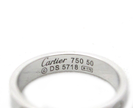 Cartier(까르띠에) B4085150 18K 화이트 골드 미니 러브링 반지-10호 [분당매장] 이미지3 - 고이비토 중고명품