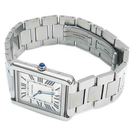 Cartier(까르띠에) W5200014 탱크 솔로 스틸 남성용 시계+DD클립 가죽밴드 [명동매장]