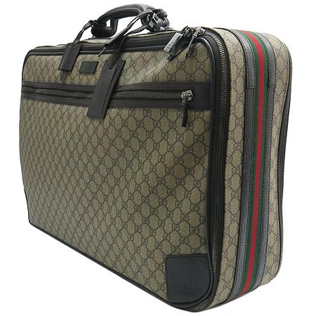 Gucci(구찌) 131189 GG로고 PVC 삼색 스티치 여행가방