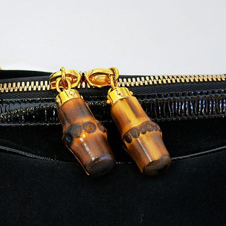 Gucci(구찌) 159398 GG 금장 로고 장식 블랙 페이던트 스웨이드  토트백 이미지3 - 고이비토 중고명품