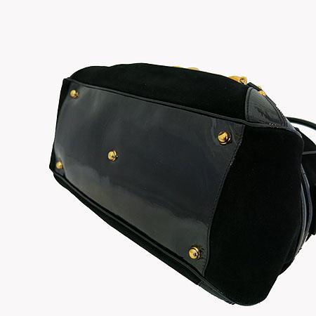 Gucci(구찌) 159398 GG 금장 로고 장식 블랙 페이던트 스웨이드  토트백