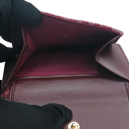 Dior(크리스챤디올) 로고 자가드 새들 3단 반지갑