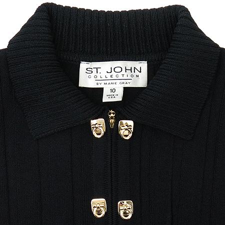 ST.John(센존) 블랙 컬러 집업 가디건