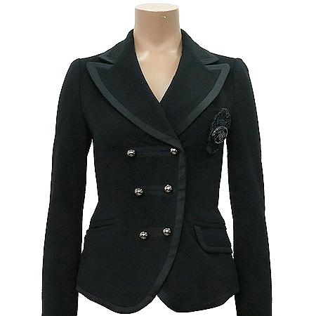 O'2nd(오즈세컨) 블랙 컬러 캐시미어 혼방 자켓