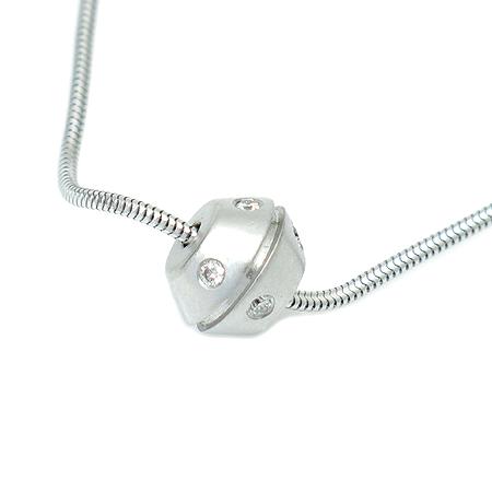 Tiffany(티파니) 18K(750) 화이트 골드 8포인트 다이아 목걸이