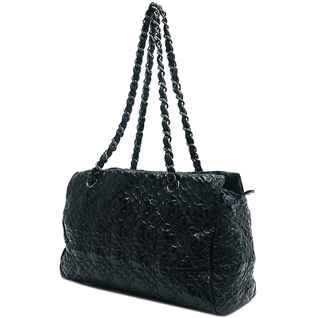 Chanel(샤넬) 블랙 플라워 아이콘 페이던트 은장 체인 숄더백 [명동매장]
