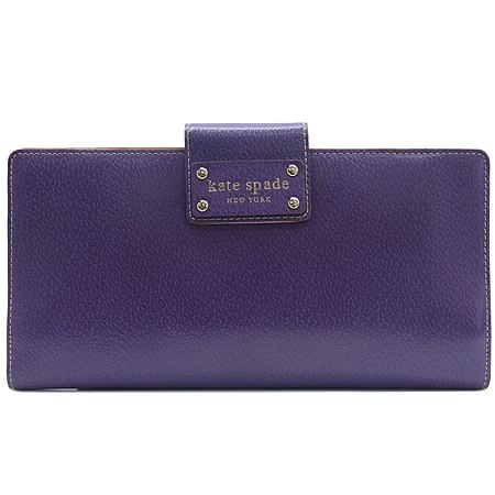 KATESPADE (케이트 스페이스) 금장 로고 장식 짚업 장지갑 겸 클러치