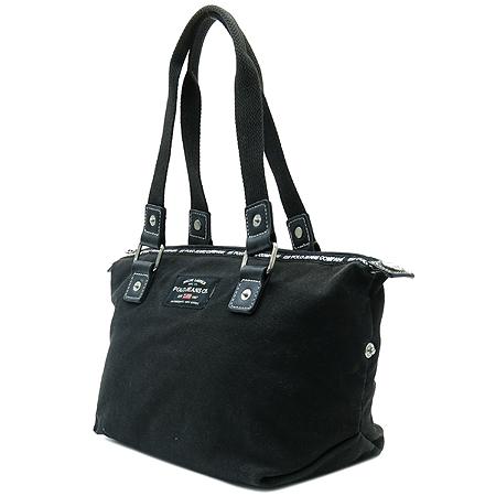 Polo Ralphlauren(폴로) 블랙 컬러 로고 패치워크 토트백 이미지2 - 고이비토 중고명품