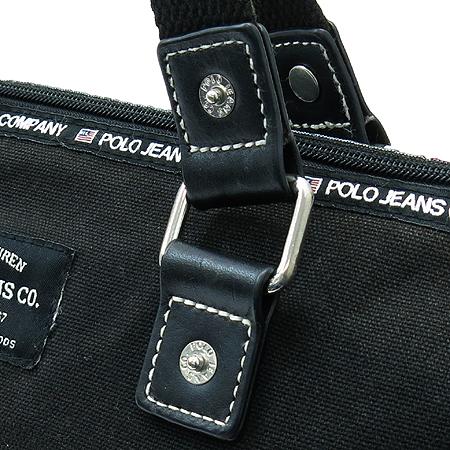 Polo Ralphlauren(폴로) 블랙 컬러 로고 패치워크 토트백 이미지3 - 고이비토 중고명품