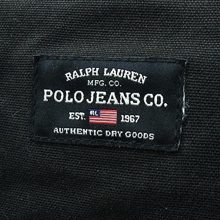 Polo Ralphlauren(폴로) 블랙 컬러 로고 패치워크 토트백 이미지4 - 고이비토 중고명품