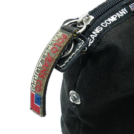 Polo Ralphlauren(폴로) 블랙 컬러 로고 패치워크 토트백