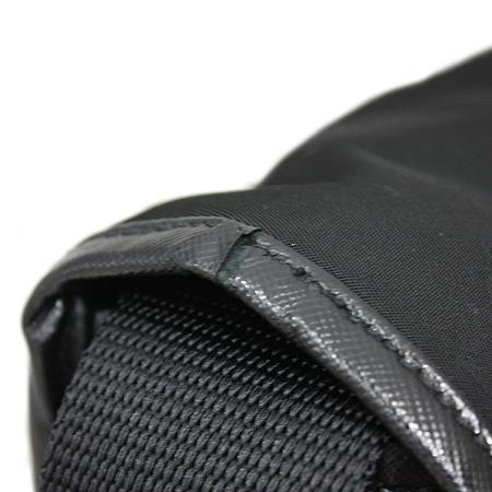 Prada(프라다) TESSUTO SAFFIAN NERO 블랙 패브릭 사피아노 레더 트리밍 메신져 크로스백 [명동매장]