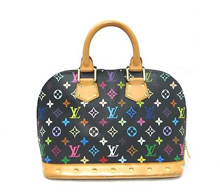Louis Vuitton(루이비통) M92646 모노그램 멀티 컬러 블랙 알마 토트백