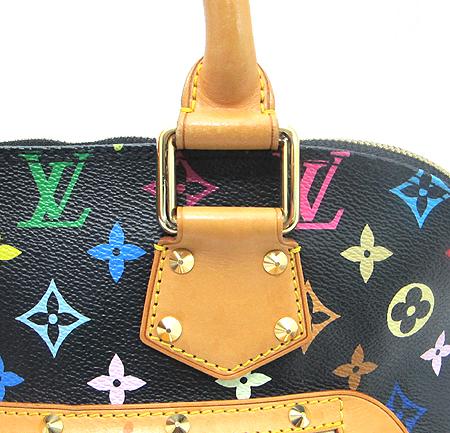 Louis Vuitton(루이비통) M92646 모노그램 멀티 컬러 블랙 알마 토트백 이미지4 - 고이비토 중고명품