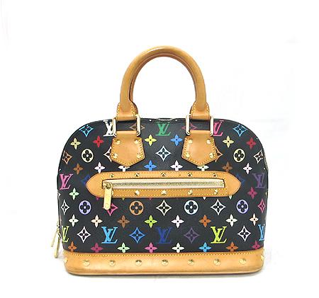 Louis Vuitton(루이비통) M92646 모노그램 멀티 컬러 블랙 알마 토트백 이미지5 - 고이비토 중고명품