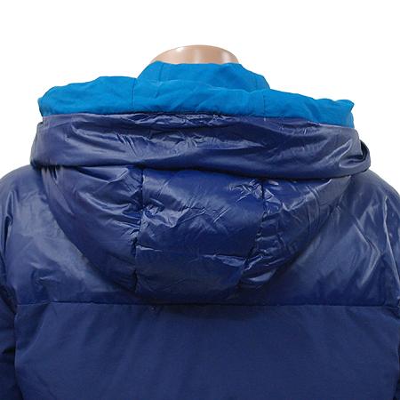 Adidas(아디다스) 블루 컬러 후드 집업 패딩 점퍼 (충전재 : 오리솜털 / 오리깃털)