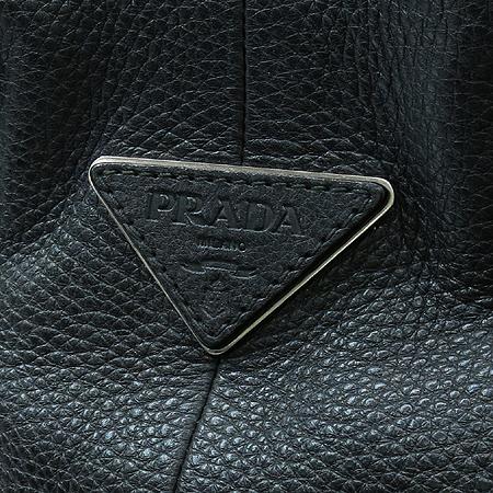 Prada(프라다) 블랙 레더 멀티 포켓 벨트 장식 숄더백 이미지3 - 고이비토 중고명품