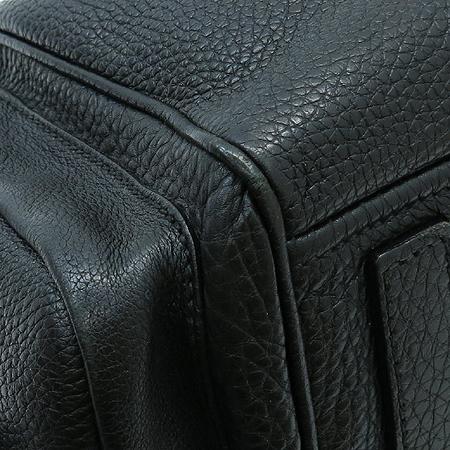 Prada(프라다) 블랙 레더 멀티 포켓 벨트 장식 숄더백 이미지5 - 고이비토 중고명품