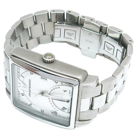 Armani(엠포리오 아르마니) AR5330 사각 스틸 밴드 남성용 시계