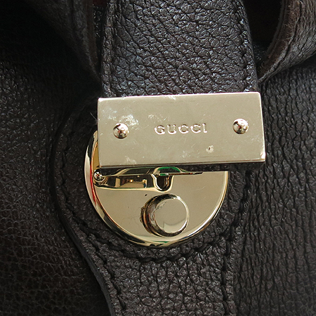 Gucci(구찌) 271570 브라운 레더 시그네쳐 웹 러기지 토트백