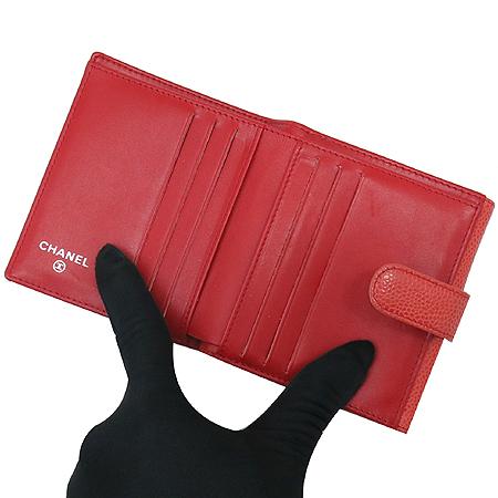 Chanel(샤넬) A48650 COCO로고 2013 S/S 시즌 컬러 캐비어 반지갑 [명동매장] 이미지5 - 고이비토 중고명품