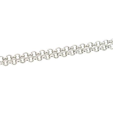 J.ESTINA(제이에스티나) 925(실버) 컬러 크리스탈 장식 시계 팬던트 은장 체인 목걸이