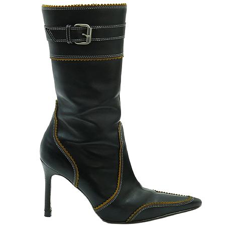 DSQUARED2 (디스퀘어드2) 블랙 레더 스티치 버클 장식 여성용 부츠