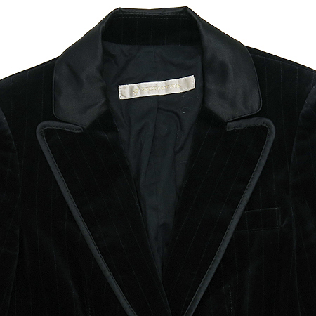 Ninesix(나인식스) 블랙 컬러 스웨이드 2버튼 자켓
