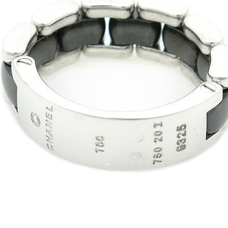 Chanel(샤넬) J2636 18K 화이트 골드 블랙 세라믹 콤비 다이아 반지 - 16호 이미지3 - 고이비토 중고명품