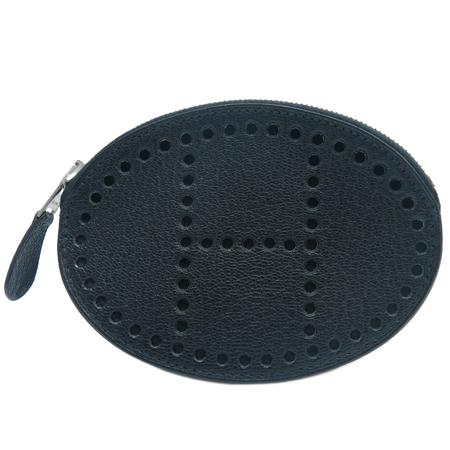 Hermes(에르메스) 블랙 에블린 펀칭 짚업 동전지갑