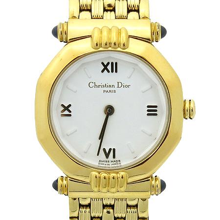 Dior(크리스챤디올) 금장 쿼츠 여성 시계