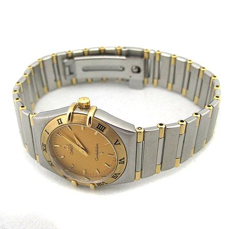 Omega(오메가) CONSTELLATION (컨스틸레이션) 18K 콤비 하프바 쿼츠 여성용 시계 [미아현대매장]